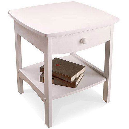 Winsome Trading Curved 1 Drawer Nightstand / End Table   Walmart.com