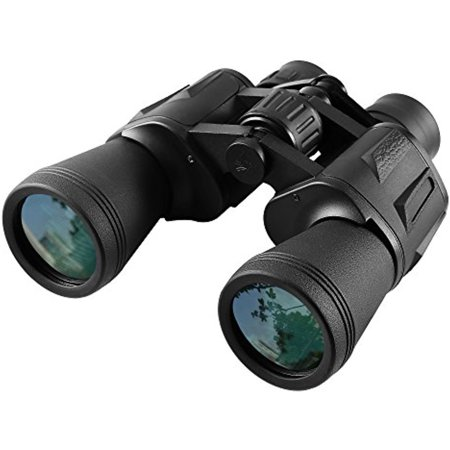 10x50 Wide Angle Binoculars Fast Focus Porro Prism System Fully Coated Optics with Tripod Socket, 328FT / 1000YDS Field of View for Travelers Nature