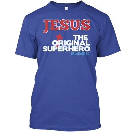 JESUS - The Original SuperHero Hanes Tagless Tee - Jesus Is My Superhero