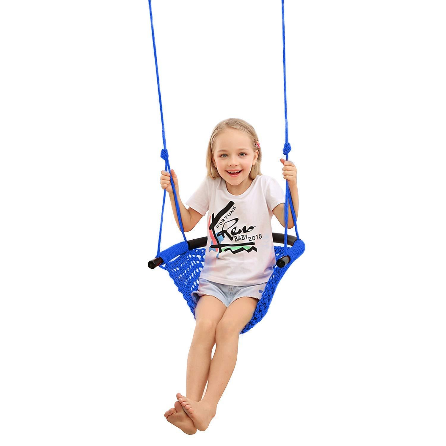 Playground Swing Seat with Adjustable Rope Replacement for Kids Outdoor Play