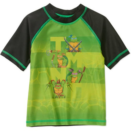 Teenage Mutant Ninja Turtles Toddler Boy Short Sleeve Swimwear Rashguard Top