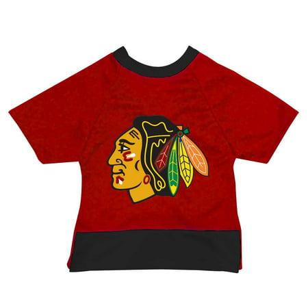 Image of Chicago Blackhawks Pet Mesh Sports Jersey - X-Large Size