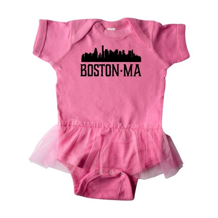 Boston Massachusetts Skyline City Silhouette Infant Tutu Bodysuit Silhouette Infant Bodysuit