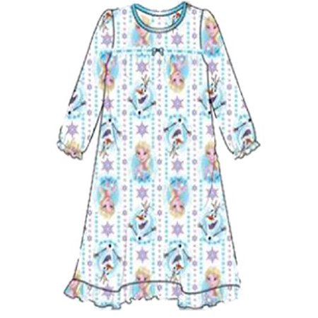 Disney Little Girls' Frozen Elsa and Olaf Nightgown, Queen Elsa, 4
