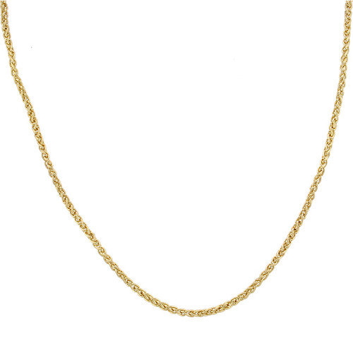 Sterling Essentials 14k Gold over Silver Spiga Anklet