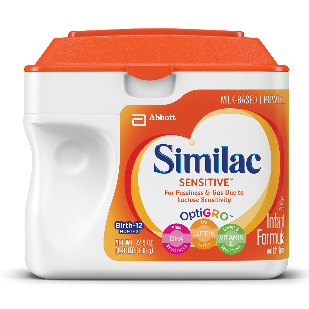 Similac Sensitive Infant Formula with Iron, Powder, 1.41 lb (Pack of 6) by Similac