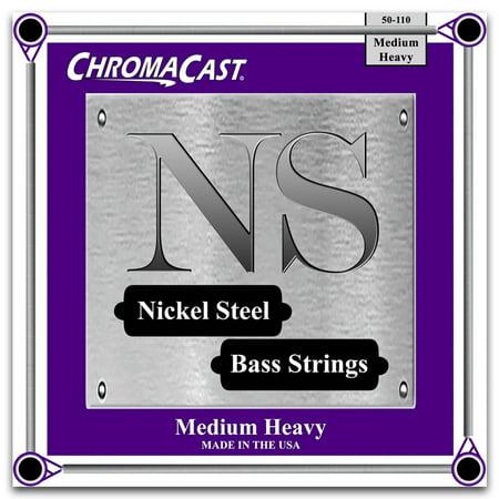 ChromaCast Nickel Steel Bass Guitar Strings, Medium Heavy Gauge(50-110)