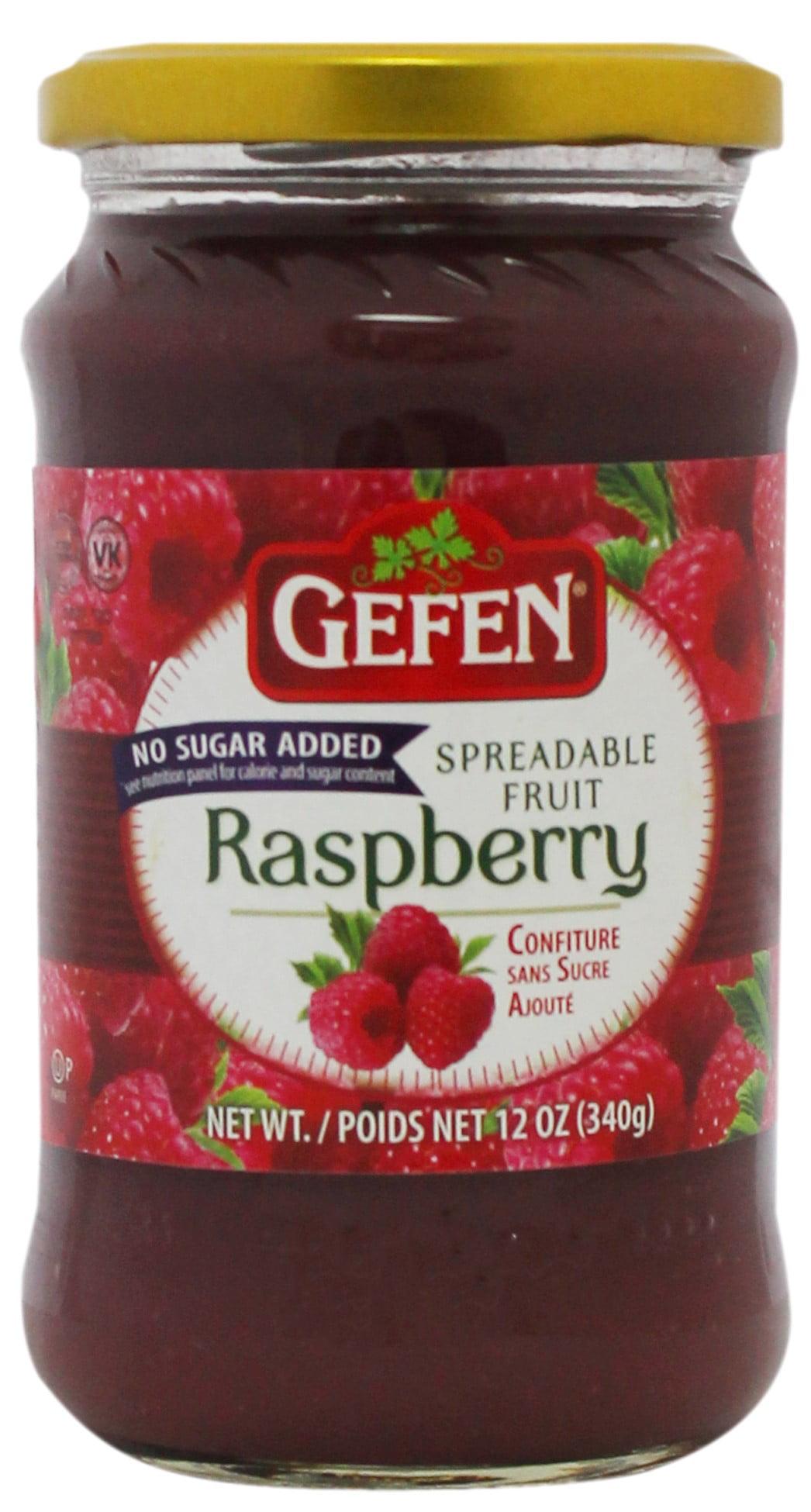 Gefen Raspberry Preserves, No Sugar Added, 12 Oz by Gefen