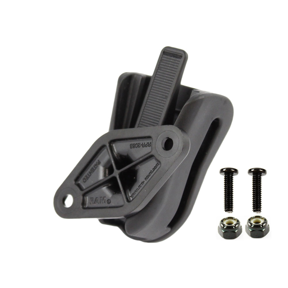 RAM MOUNT UNIVERSAL BELT OR VISOR CLIP W/O CRADLE