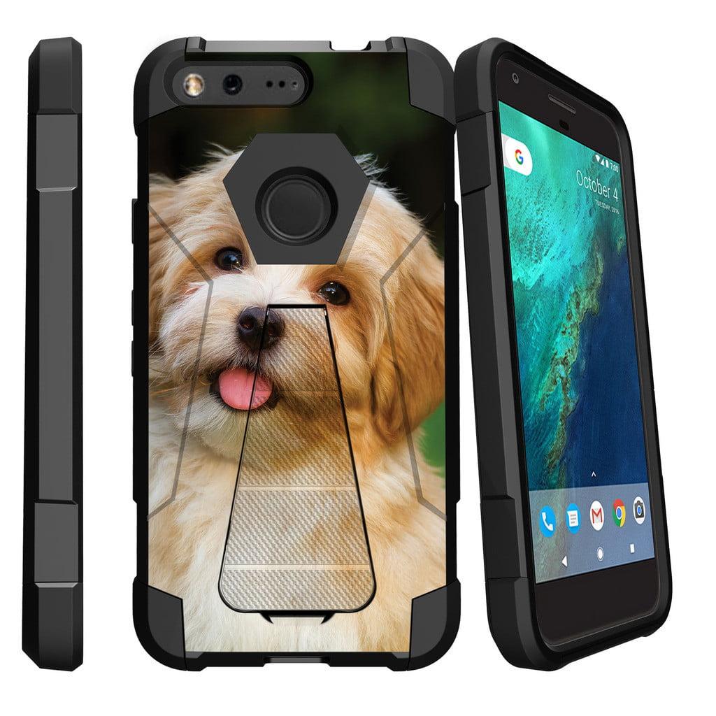 Google Pixel XL , Pixel XL Cover Shock Fusion Heavy Duty Dual Layer Kickstand Case -  Gorilla with Sunglasses