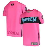 Florida Mayhem Youth Sublimated Replica Jersey T-Shirt - Pink