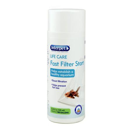 Interpet LIFE CARE Fast Filter Start Fish Aquarium Filtration, 4.23
