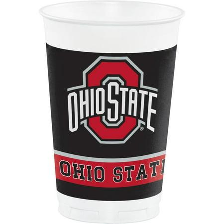Creative Converting Ohio State University 20 Oz Plastic Cups, 8 ct - Ohio State University Halloween Party