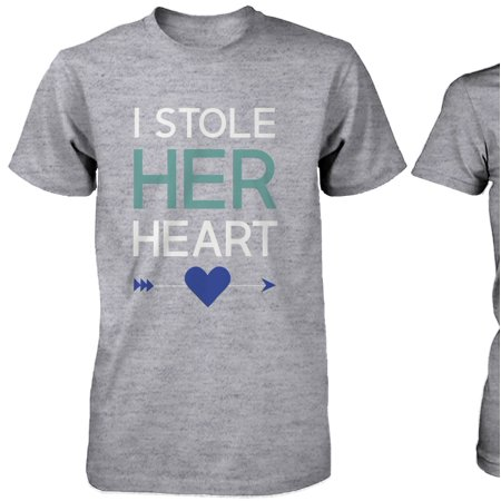 779d00cb7 365 Printing - I Stole Her Heart, So I'm Stealing His Couple Shirt Matching Couple  T-Shirts - Walmart.com