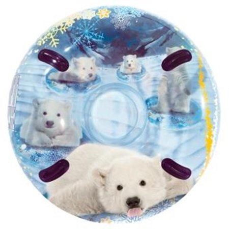 (3D MegaBlaster Snowtube Polar, polar bear, 54in Snow Tube, Cleartop)