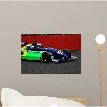 - Race Car Driving through Wall Mural Decal Sticker, Wallmonkeys Peel & Stick Vinyl Graphic (12 in W x 8 in H