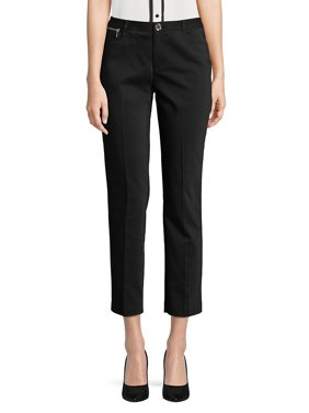 Zip-Trim Skinny Crop Pants