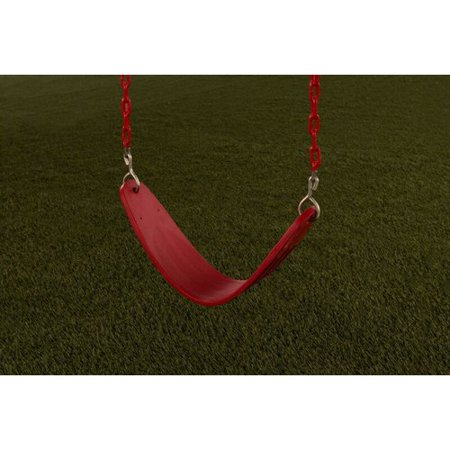 Red Cedar Classic Swing (Creative Cedar Designs Ultimate Swing Seat w/Chains- Red)