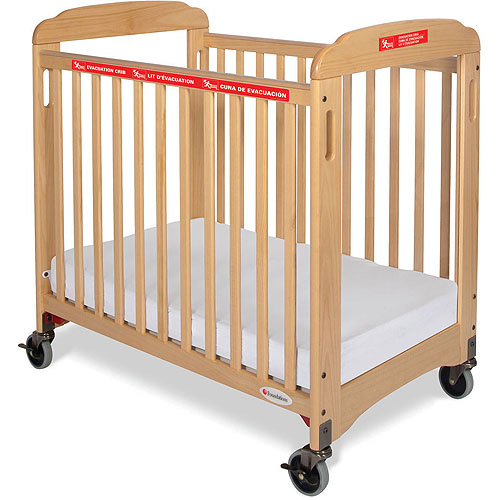 Foundations First Responder Evacuation Compact Clearview Fixed-Side Crib with Evacuation Frame
