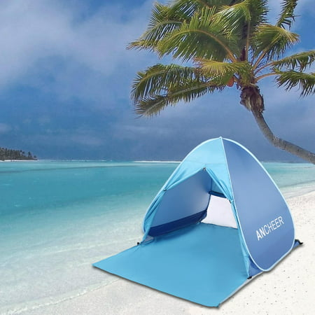 Portable Beach Shade Tent Sun Shelter, Instant Pop up Family Anti UV