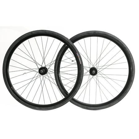 700c Disc Road Hybrid Cyclocross Bike Wheelset + Tires QR 8-10s