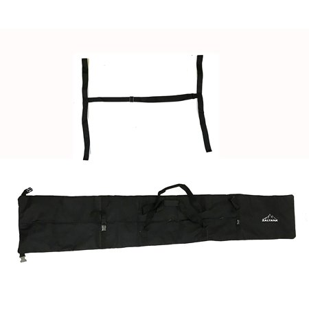 zaltana SKB18 Padded Ski Carier Bag Rack Holds & 1-1/2