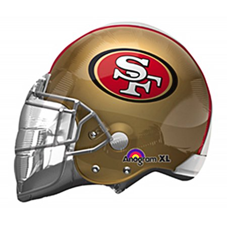 San Francisco 49ers Helmet NFL 24in Jumbo Foil Balloon Football Party