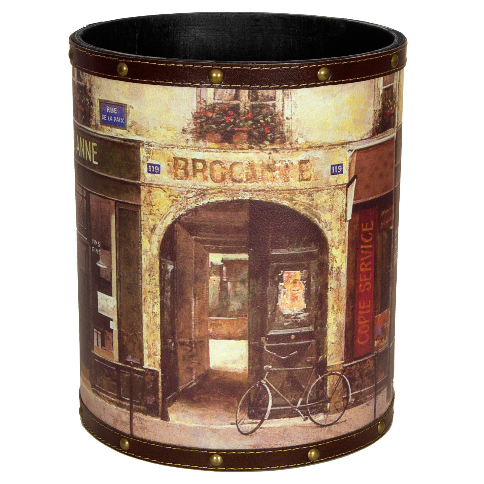 Oriental Furniture Parisian Cafe Waste Basket