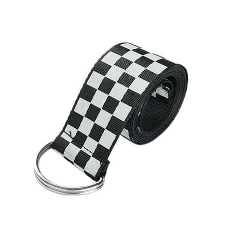 Womens Checkerboard - Women Checkerboard Belt Black White Plaid Canvas Belt Waistband