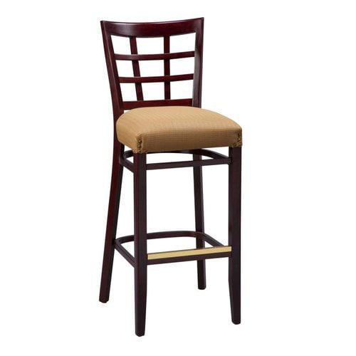 Regal Seating 2411FUS Beechwood Lattice Back Fully Upholstered Seat Stool