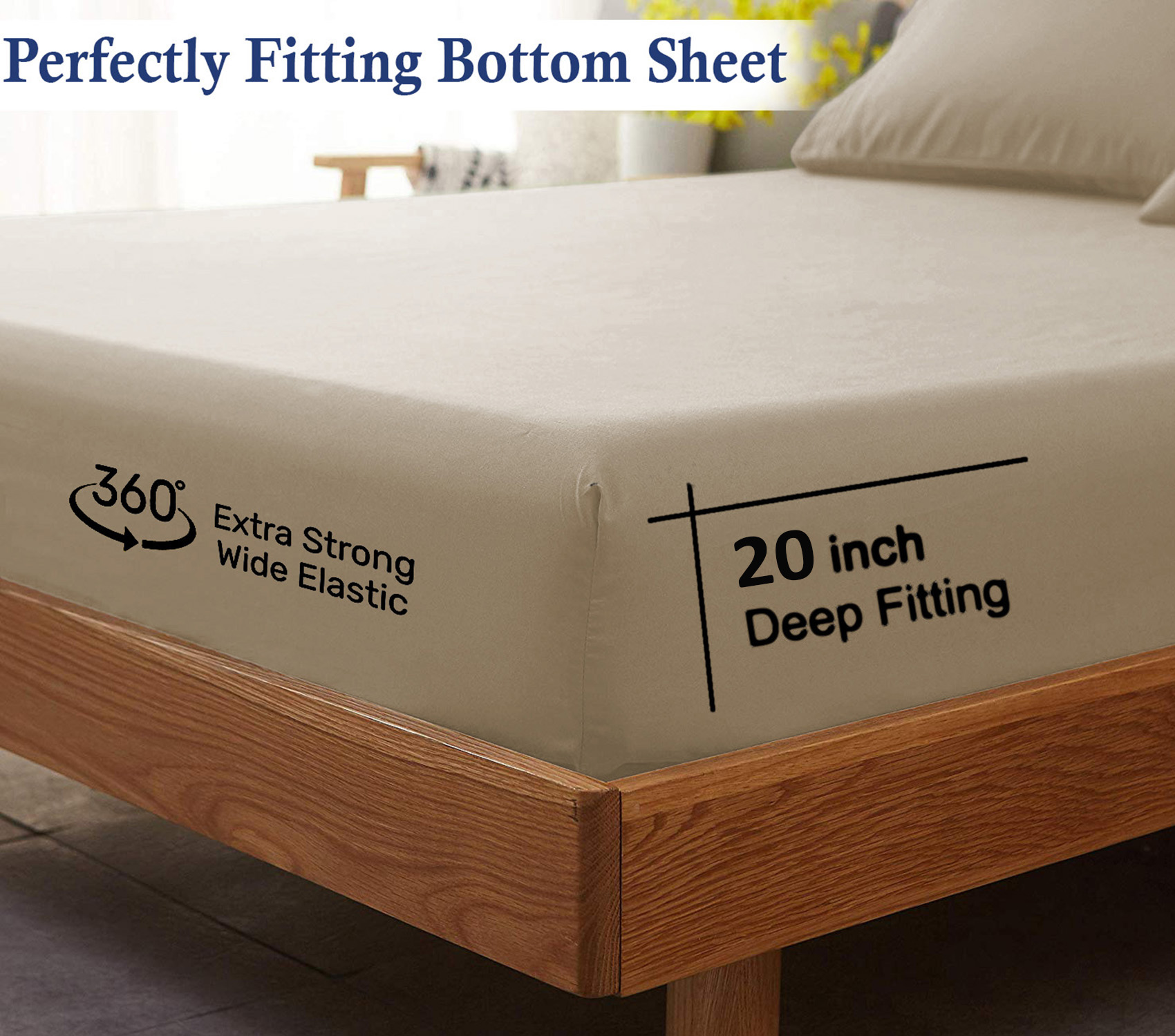 Lavish Touch Flannel Fitted Sheet Queen 100 Cotton Velvety Soft Heavyweight Double Brushed Flannel 1 Fitted Sheet 60 X80 20 Extra Deep Pocket Breathable Queen Sheet White Walmart Com Walmart Com