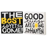 Cape Craftsmen Sunny Inspiration Plocks by Michael Mullan Textual Art Plaque Set (Set of 2)