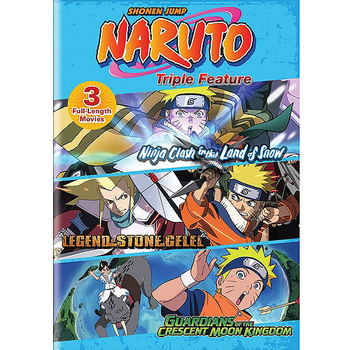 Naruto: Triple Feature - Ninja Clash In The Land Of Snow / Legend Of The Stone Of Gelel / Guardians Of The Crescent Moon Kingdom (Walmart Exclusive) (Anamorphic Widescreen)