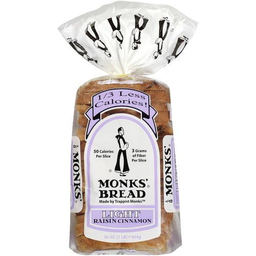 Monks' Light Cinnamon Raisin Bread, 16 oz