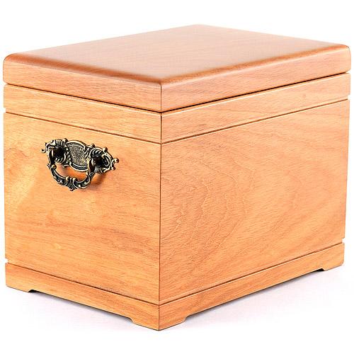 Star Legacy's Celestial Supreme All-Natural Wood Urn & Memorial Chest, Oak