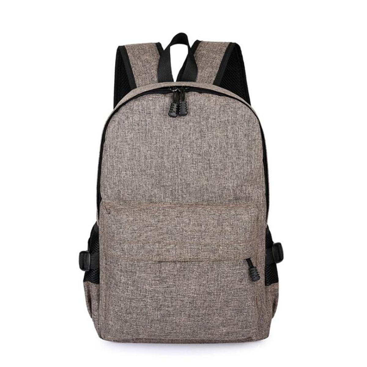 Anti-theft Men Women Laptop Notebook Backpack+USB Charging Rucksack School Bag