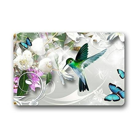 - WinHome Hummingbird With Flower Doormat Floor Mats Rugs Outdoors/Indoor Doormat Size 23.6x15.7 inches