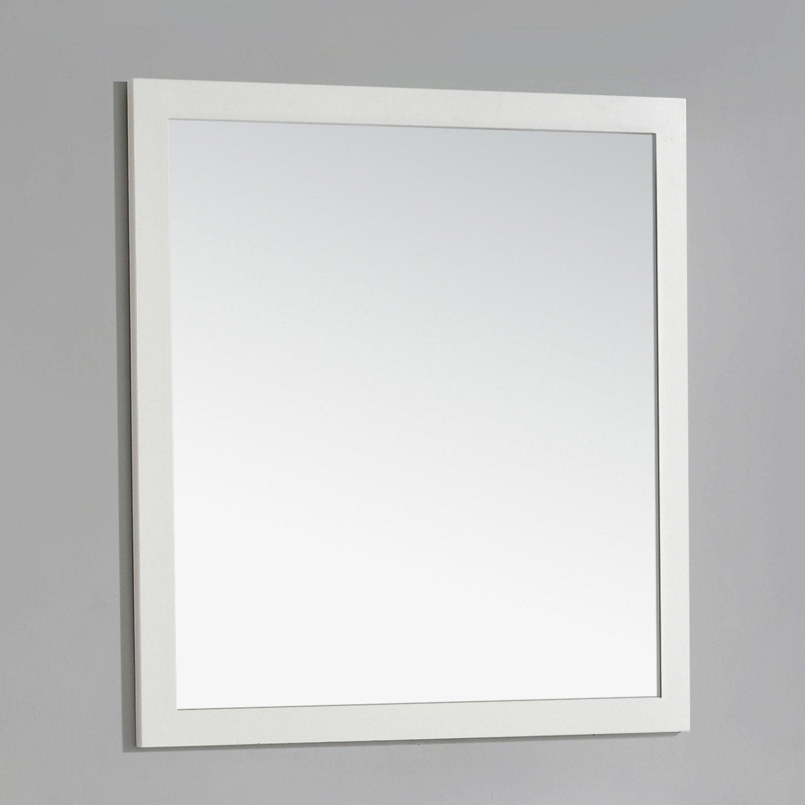 """Brooklyn + Max Chesapeake 32"""" x 34"""" Soft White Bath Vanity Decor Mirror by brooklyn %2B max"""