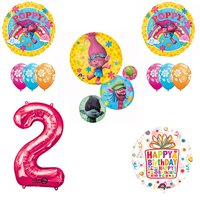 TROLLS Movie 2nd Happy Birthday Party Balloons Decoration Supplies Poppy Bran...