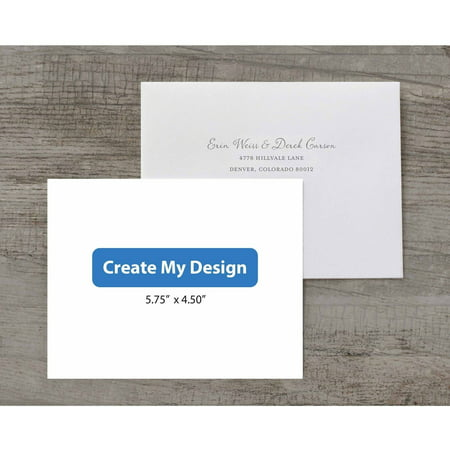 5.5 x 4.25 Custom Deluxe RSVP - Frozen Custom Invitations