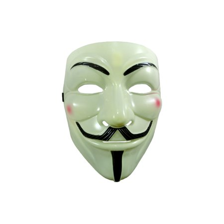 Deluxe Movie Guy Fawkes Anonymous Hacktivist Halloween Masks Costume Accessory (Smiley Movie Mask)