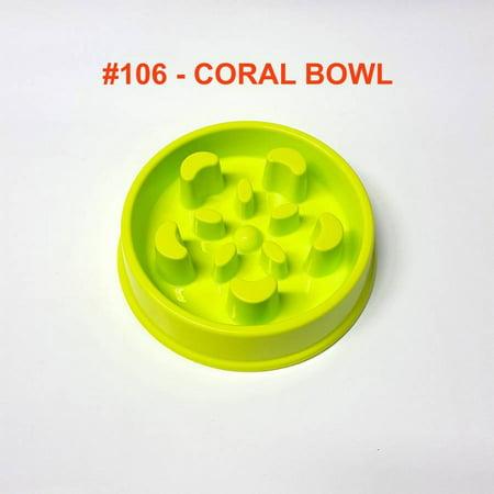 - Alpha Dog Series Fun Slow Feeder Bowl - CORAL (GREEN)