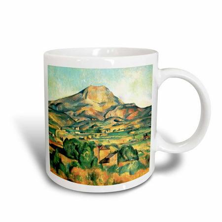 3dRose Mont Sainte-Victoire by Paul Cezanne 1895 - famous fine art landscape paintings by classical masters, Ceramic Mug, 15-ounce