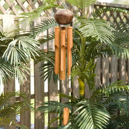 Woodstock Asli Arts 35 Inch Whole Coconut Wind Chime ()