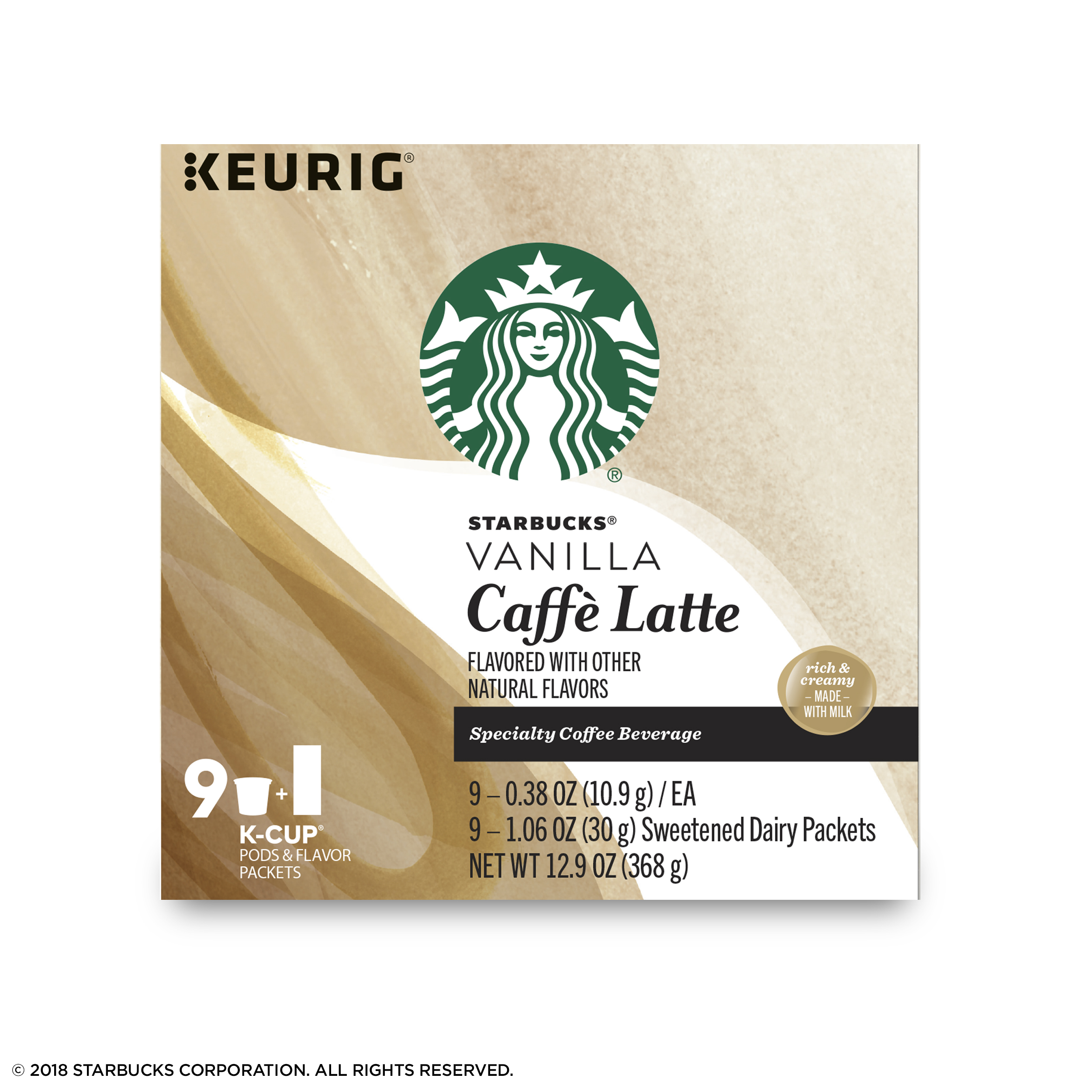 Starbucks Vanilla Caffe Latte Medium Roast Single Cup Coffee for ...