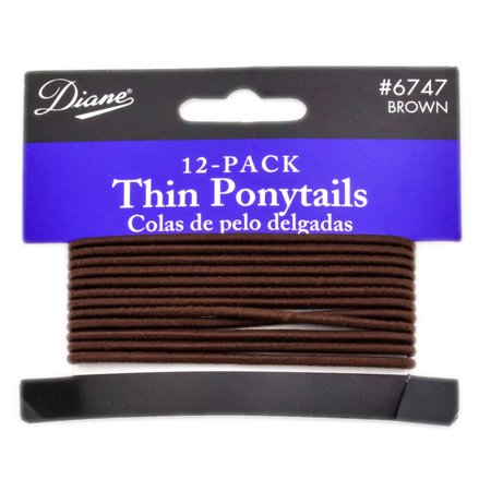Other Accessories: Diane Thin Ponytails - Color : Brown - 12 (Best Ponytail Holders For Thin Hair)