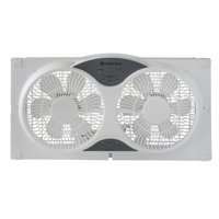 Comfort Zone 3-Speed Reversible Twin Window Fan with Remote Control