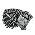Buckle Rage Electrician Tradesman Belt Buckle, SILVER, 432