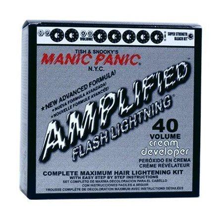 Flash Lightning Hair Bleach Kit 40 Volume.Kit Includes: Dust-Free Bleach Powder 38 grams, 40 Volume Creme Developer 4 ounces, Tint Brush, Gloves,.., By Manic (Lightening Treatment)