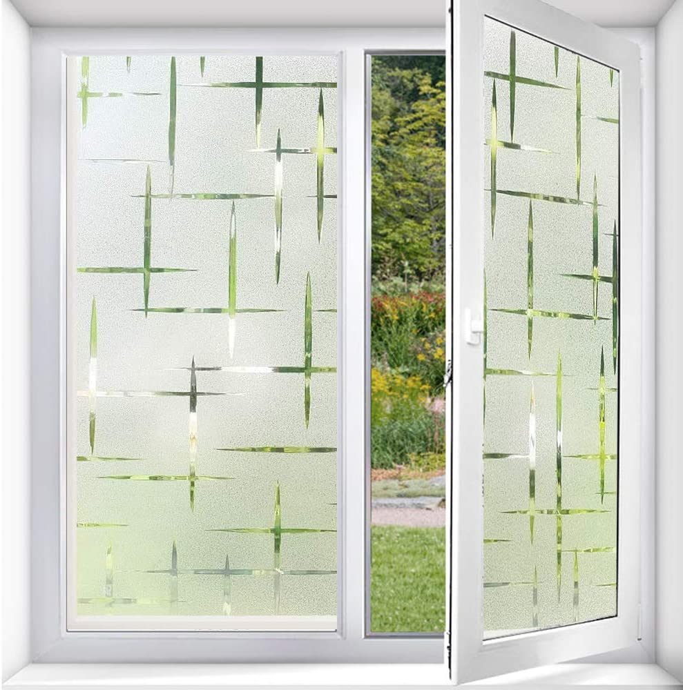 Self-Adhesive Frosted For Bathroom Shower Door Office Home Privacy Window Film